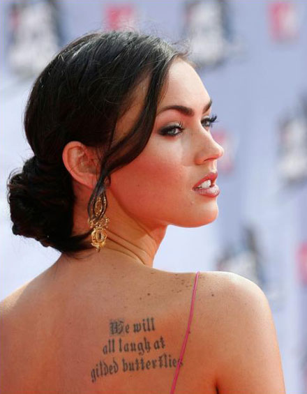 megan fox tattoos marilyn. Megan Fox Marilyn Monroe